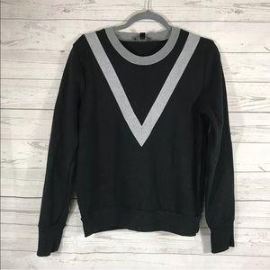 J.Crew Sweatshirt Varsity Colorblock Black Medium